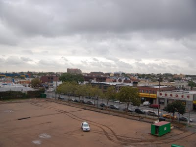 This photo shows a 'monk's eye view' of Bay Ridge, and the soon-to-be renovated ball field.