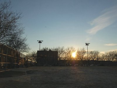 Bay Ridge's Dust Bowl at sunset